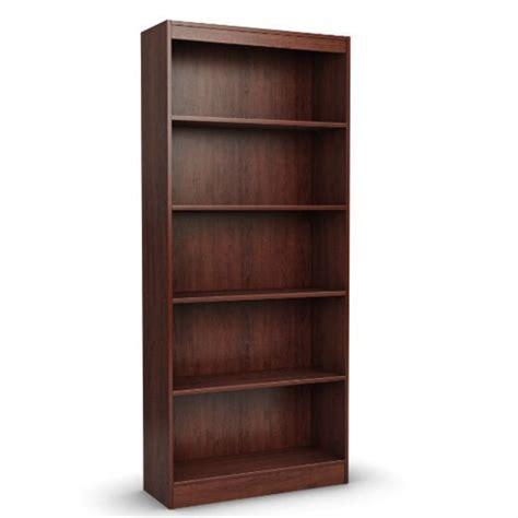 cherry wood shelves contemporary 5 shelf bookcase bookshelf in royal cherry