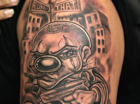 gangster tattoos for men 12 gangster clown designs and ideas