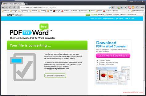 convert pdf to word microsoft convert pdf to microsoft word document bust a tech