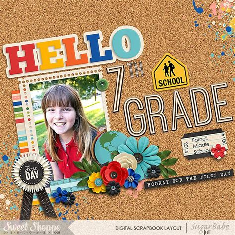 scrapbook layout first day of school 245 best school scrapbook layouts images on pinterest