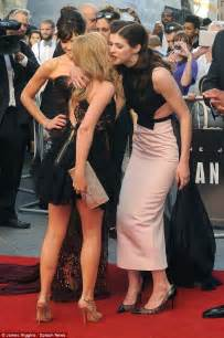 Lovely ladies minogue also shared showbiz kisses with carla gugino