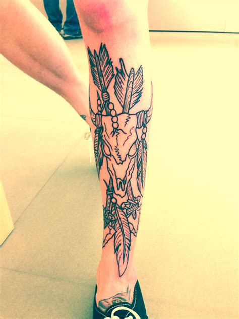 front thigh tattoos skull on leg best ideas designs