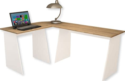 bureau ordinateur angle bureau d angle bois bureau blanc tiroir eyebuy