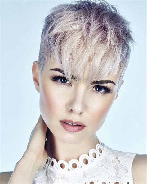 latest hairstyles uk hairdressers gallery a short blonde hairstyle from the elysium collection by