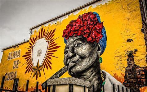 Garden Wall Murals alma de cuba graffiti art decorative art painting print hd