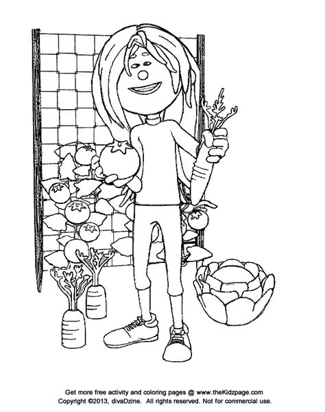 Realistic Coloring Pages Vegetable Garden Coloring Pages Vegetable Garden Coloring Pages