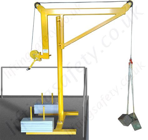 swing crane portable counterbalance free standing davit arm swing