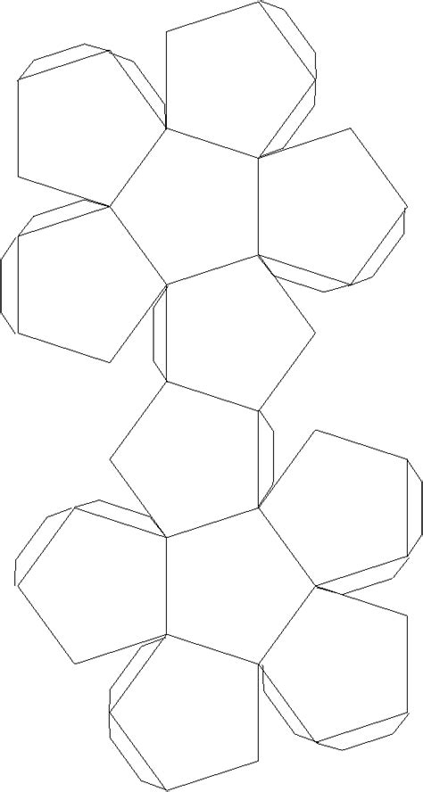 Dodecahedron Template Printable Images - best photos of truncated dodecahedron template truncated