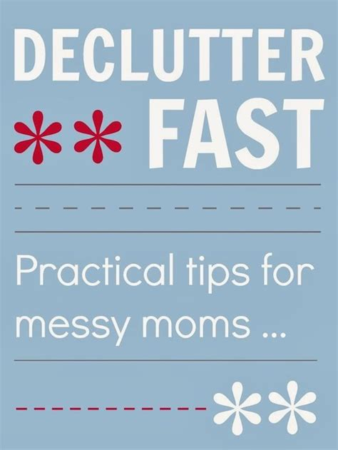 pinterest de cluttering ideas how to declutter fast by mums make lists plus 5 tips for