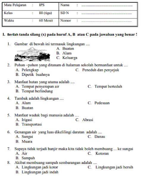 Aktif Belajar Ips Untuk Kelas Iv 4 Sd Dan Mi latihan soal dan jawaban uas ips kelas 3 sd mi semester 1 prestasi pelajar indonesia