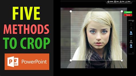 best powerpoint tutorial youtube five methods to crop a picture in powerpoint 2016 best
