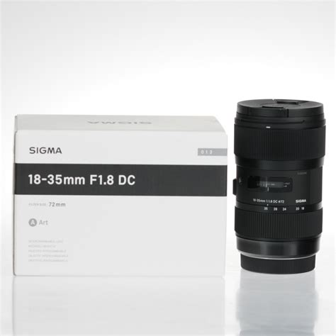 Lensa Sigma 18 35mm F 1 8 Dc Hsm brand new sigma 18 35mm f 1 8 dc hsm lens for canon mount