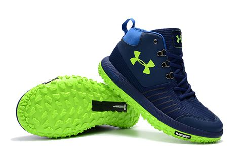 armour air boots armour tire gtx navy blue green hiking boots