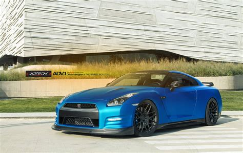 blue nissan gtr absolutely wicked matte blue nissan gt r by jotech and adv