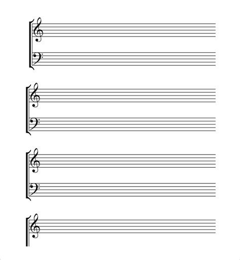 musical notes template sle musical note template 9 free documents in pdf word
