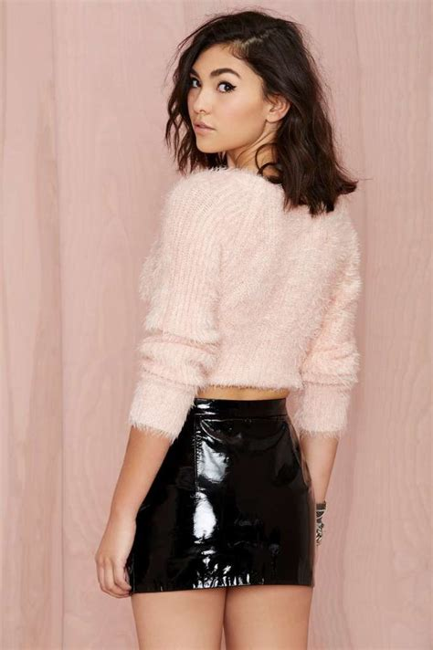 Veny Maxi vintage givenchy vinyl frontier mini skirt bottoms