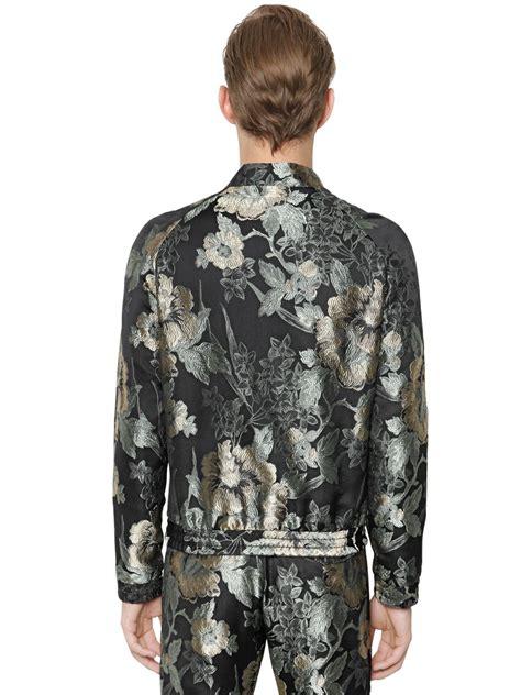 Bj 872 Flower Black Jacket christian pellizzari floral jacquard bomber jacket in