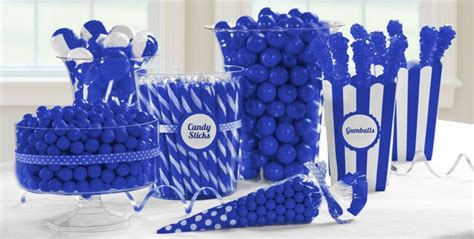 royal blue candy buffet candy buffet party favors