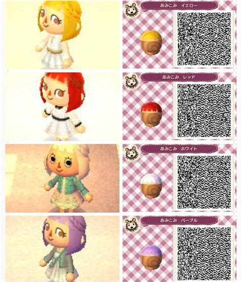 animal crossing new leaf qr code hairstyle hair braids