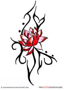 Tribal Lotus Flower 90 Lotus Flower Tattoos