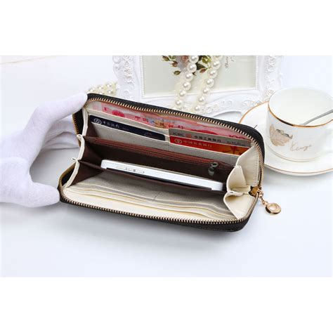 Blackkelly Dompet Clutch Wanita Coklat 1 dompet genggam korean bowknot purse clutches handbag