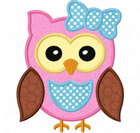 printable owl applique descarga inmediata buho chica apliques bordado de m 225 quina