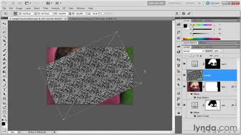 Rotate Pattern In Photoshop | 081 rotating a pattern layer in photoshop