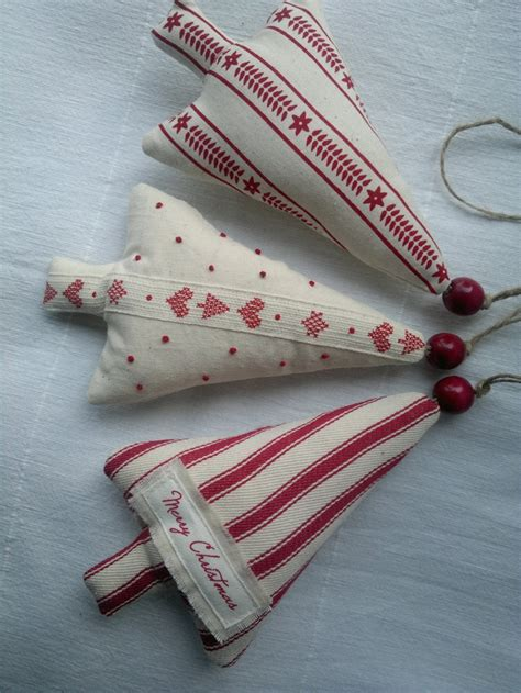 christmas bulbs demcoration with fabric set of three and white tree fabric ornament hanging decoration via etsy my
