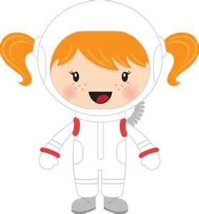 Clipart little girl astronaut