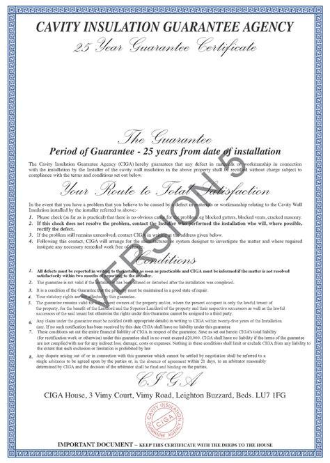 About Ciga Ciga Insulation Certificate Template