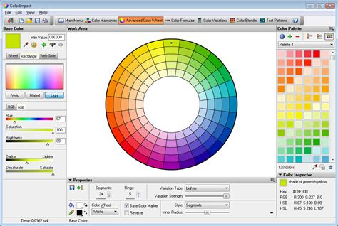 color wheel schemes colorimpact sle screen shots