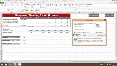 2115 excel for hr manpower planning for a small