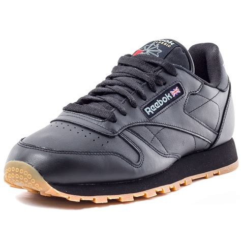 Classic Leather by Reebok Classic Leather Mens Trainers In Black Gum