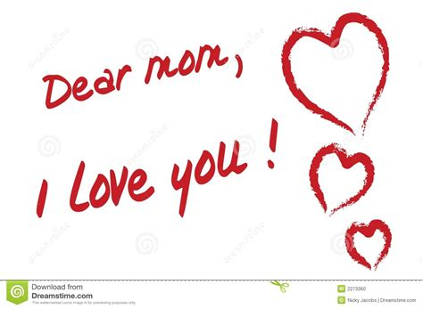 imagenes de i love you mom dear mom i love you stock vector image of draw children