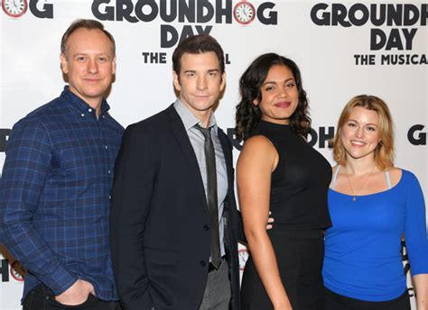 groundhog day broadway cast andy karl barrett doss and more preview broadway s