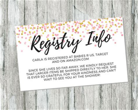 Babyshower Registry Card Template The Bump by Registry Card Etsy
