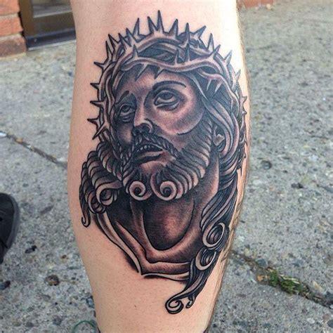 tattoo old school perna 70 tatuagens de jesus cristo impressionantes