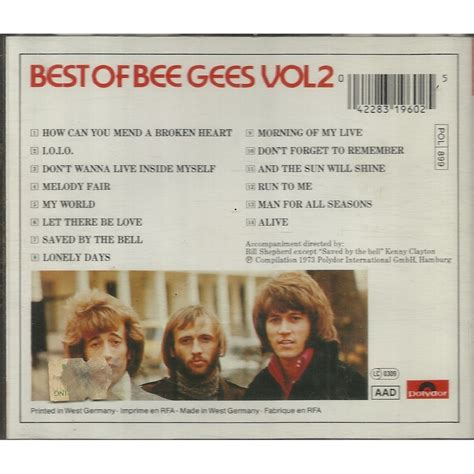 best of the beegees best of bee gees vol 2 by the bee gees cd with