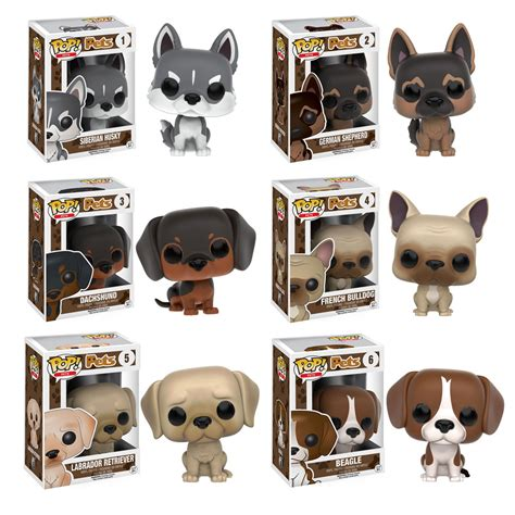 puppy pop funko pop pets series 1 vinyl figures set of 6 dogs bbtoystore toys plush
