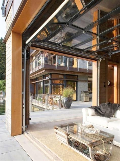 garage door outdoor living living rooms  doors