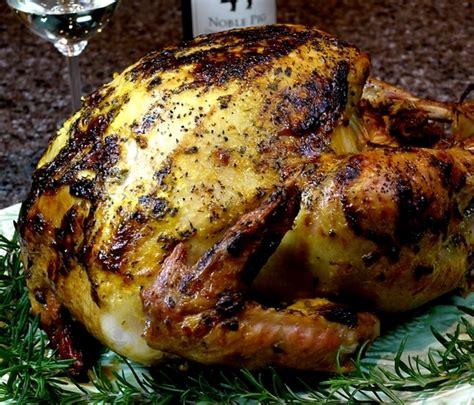 ina garten roast turkey brined lemon herb aioli style mayonnaise roasted turkey