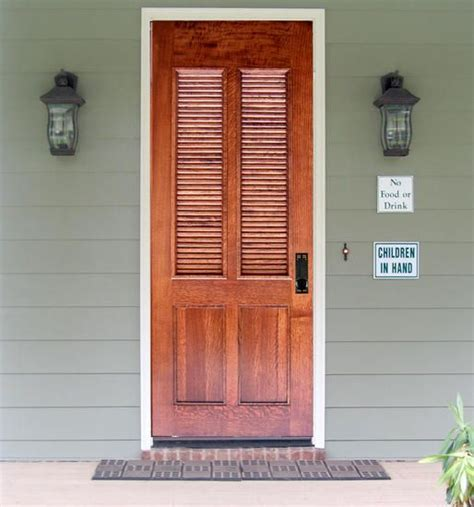 Louvered Doors Exterior Craftsman Exterior Wood Louvered Entry Door Dbyd 4218 For The Home