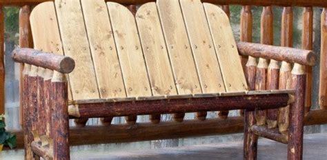pine log outdoor rustic furniture