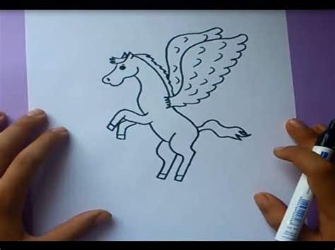 imagenes de unicornios hechos a lapiz como dibujar a pegaso paso a paso how to draw pegaso