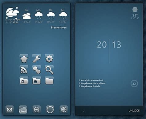 40 really cool android home screens for your inspiration