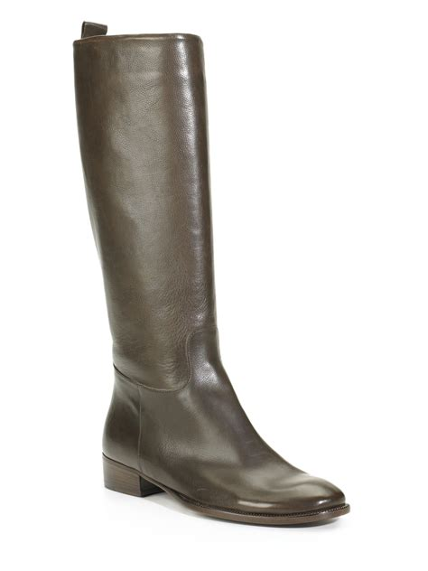 brown knee high boots max mara knee high boots in brown brown lyst