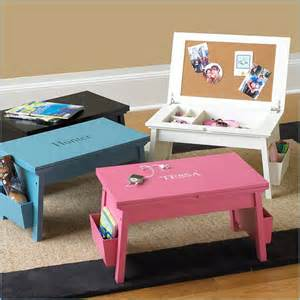Diy Childrens Desk This Would Make A Great Area For A Child Work On Not A Desk But Portable Like The