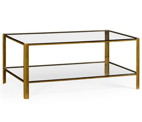brass coffee table brass glass coffee table