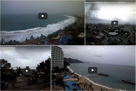 imagenes satelitales huracan patricia en vivo en vivo c 225 maras muestran llegada del hurac 225 n patricia