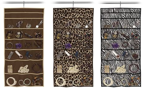 printable pocket organizer 22 pocket hanging jewelry organizer groupon